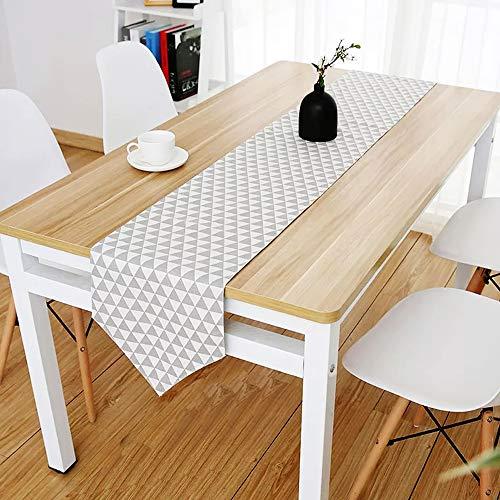Tuin Decoratieve Dubbele Linnen Tafel Runner of Keuken dineren wonen buiten en dressoir tafel.Perfect Home Decor (machine wasbaar)(12x 72 Inch)