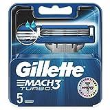 Gillette Mach3 Turbo Lames De Rasoir Pour Homme 5Recharges