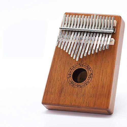 JINSUO FDCW Scoutdoor Kalimba-Daumenklavier mit 17 Tasten, hergestellt aus einem Brett, Holz, Mahagoni-Körper, Musikinstrument (Farbe: Kreis