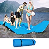 Pool Floats Foam Pad, XPE 10 x 5 FT Water Floating Mat with Storage Straps, Portable Giant Lily Pad for River Lake Raft Beach Ocean Water Activities, Beach Floaty Party Toys for Kids Adults