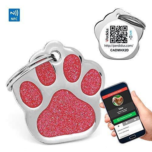 PERDIDUS placa identificativa con GPS  – Localizador para perros más barato