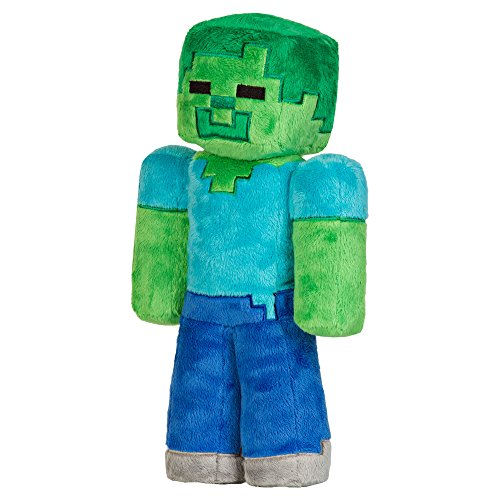 JINX Minecraft Zombie Plush Stuffed Toy, Multi-Colored, 12' Tall