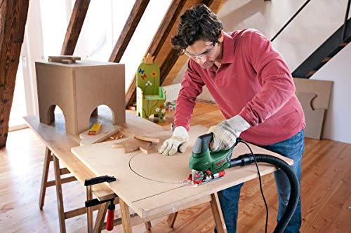 Bosch DIY Stichsäge PST 900 PEL, 1 Sägeblatt T 144 D, Spanreißschutz, CutControl, Transparenter Abdeckschutz, Sägeblattdepot, Koffer (620 W, Schnittiefe 90 mm Holz, 8 mm Stahl) - 7