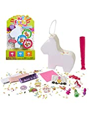 Piñata Fiesta Activity Set with Fun Party-Themed Surprises & Colorful Confetti - 6 Different Piñatas To Collect, Unicorn, Pony, Taco, Rainbow, Watermelon Or Burro! Which One Will You Get?