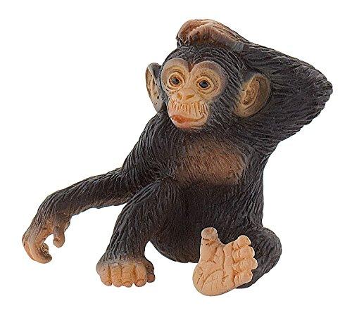 Bullyland 63686 - Spielfigur, Schimpansenjunges, ca. 4 cm
