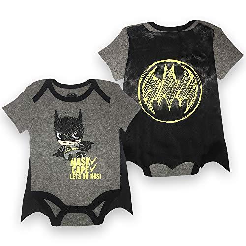 Infant Boys Batman Bodysuit Set - DC Comics Batman Short Sleeve Cape...