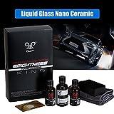 Sweetlife - Kit in ceramica per auto, 9H, in vetro liquido per auto, con cristalli placcati al fluoro, lunga durata e lucentezza profonda