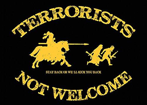 Aufkleber / Sticker - Terrorists Not Welcome (Sticker-Set, 10 Stück)