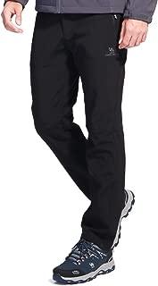 CAMEL CROWN Men's Softshell Fleece Pants Outdoor Hunting Hiking Skiing Waterproof Windproof Trousers