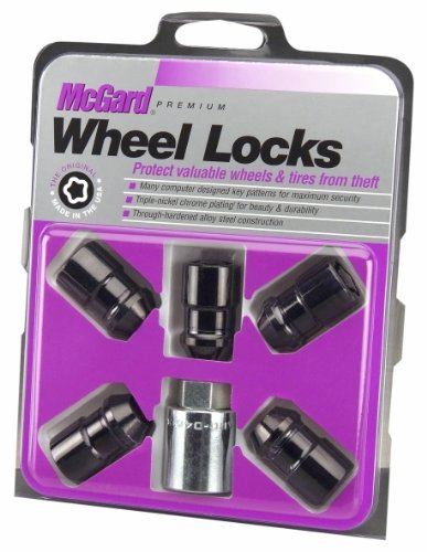 McGard 24548 Black Cone Seat Wheel Locks(1/2'-20 Thread Size) - Set of 5