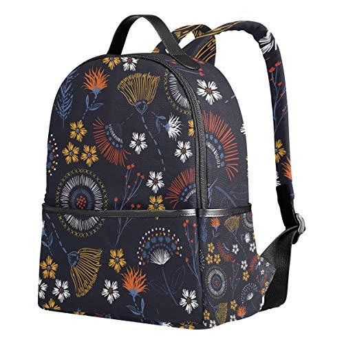Schulrucksack, bunte Blumen, Schulranzen für Mädchen und Jungen