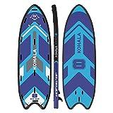 KOHALA Tabla de Paddle Surf Big Sup Color Azul - Tipo Beginner/Allround - Capacidad Máxima 650 kg - Aletas: 3 Aletas Gigantes