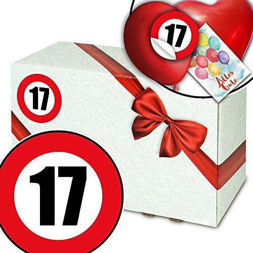 Geschenkidee 17. Jahrestag - Präsentkorb Verpackung - Idee 17. Hochzeitstag