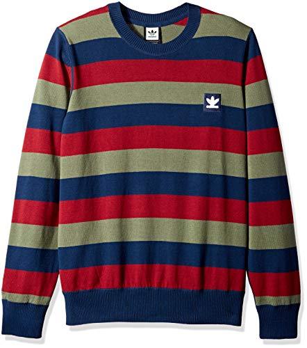 adidas Originals Men's Skateboarding Striped Sweater