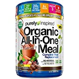 Purely Inspired All-in-One Meal Meal Replacement Shake Powder, Vegan, 20g Protein with Fiber, Vitamins, Minerals & Probiotics, Decadent Chocolate, 15 Servings (1.3lbs)