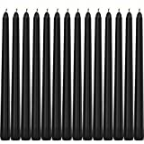 Tobeape Halloween Black Taper Candles, Set of 14 Dripless Unscented Candles, 10 inch