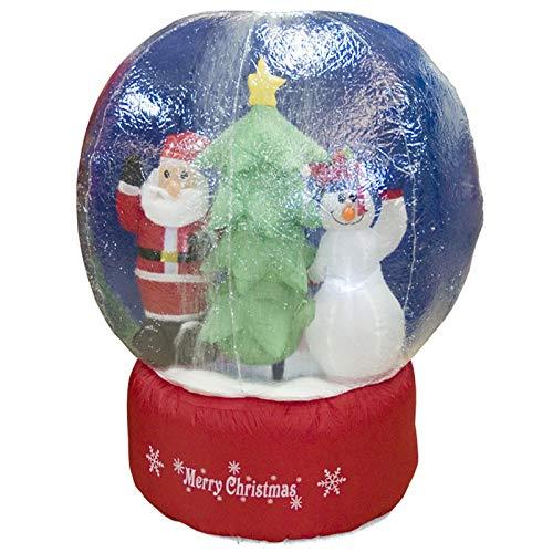 albero di Natale gonfiabile trasparente