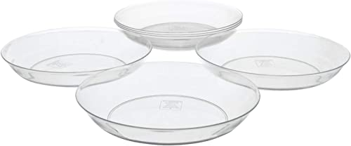 """wholesale Royal Imports 10"""" high quality Clear Acrylic Plant Saucer Drip Tray, Deep Pie Plate, Floral Flower outlet sale Dish, Wedding, Party, Home and Holiday Decor, 6 Pack online sale"""