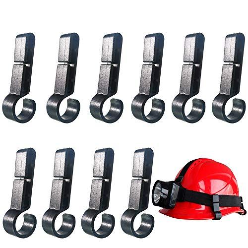10 Pcs Helmet Clips for Headlamp,Headlamp Hook,hard hat Light Clip,Helmet Clip,Hard Hat Accessory Easily Mount Headlamp on Narrow-Edged Helmet