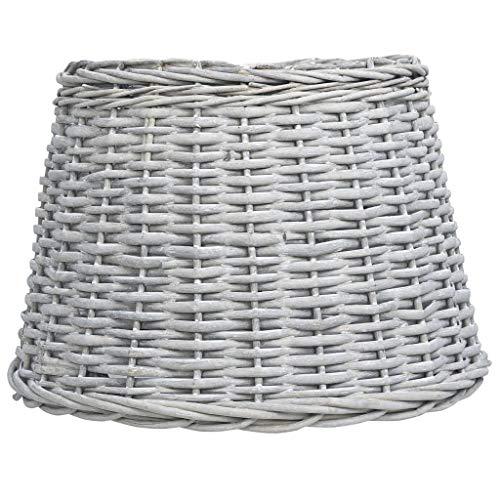 Benkeg Pantalla de Lámpara de Mimbre Marrón 50x38 cm, Pantalla de Lámpara de Ratán