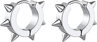 ChainsHouse 316L Stainless Steel Hoop Earrings, Punk Statement Hypoallergenic Surgical Huggie Hoop Earrings For Men Women Gilrs Boys, Send Gift Box