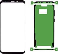 Original Galaxy S8 Plus Front Outer Lens Glass Screen Replacement and Pre-Cut Adhesive Glue Tape Sticker(Compatible All Models)