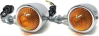 COMPATIBILE CON HONDA XR 125 L COPPIA DI FRECCE A LAMPADINA 12V 21W OMOLOGATE E13 UNIVERSALE PER MOTO LAMPA 90092 ARROW VETRO ARANCIO LUCE ARANCIO