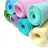 ZAIONE Lote de 7 rollos de 8 x 35 pulgadas, tela de fieltro rígido, no tejida, mezcla de manualidades, escuela, bricolaje, decoración, costura, patchwork, (serie pastel)