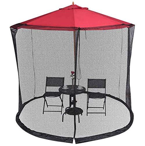 Cubierta de sombrilla Pantalla de mosquitera, pantalla de mesa de sombrilla de jardín al aire libre, utilizada para sombrilla Cubierta de mosquitera Cubierta de red Malla con cremallera (300 * 230Cm