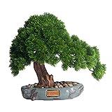 Bonsai Artificial Plantas artificiales Bonsai Pine Tree, Plantas de la olla de la casa artificial, Decoración del Zen del escritorio for la sala de estar, Oficina Planta Artificial ( Color : A )