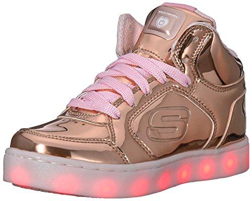 Skechers Mädchen Energy Lights Sneaker, Pink (Rose Gold), 37 EU