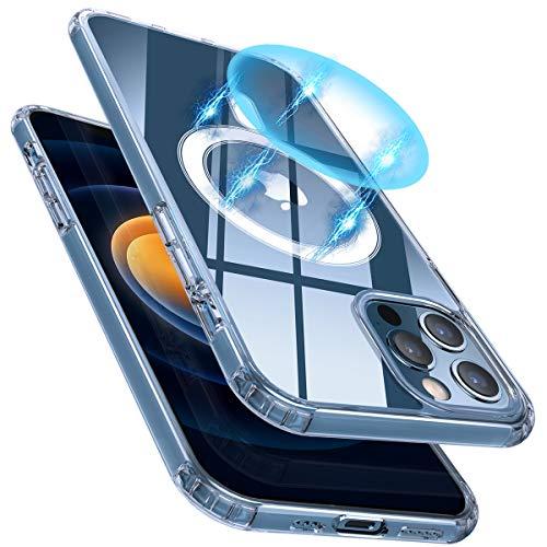 AMZLIFE Transparent Magnetische Hülle Kompatibel mit iPhone 12/12 Pro (6.1