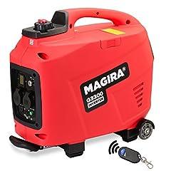 MAGIRA 3.3kW generator inverter med E-start, 3300W digital bensin enhet tyst i 7 varianter: 0.8kW – 3.3kW