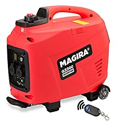 MAGIRA 3,3kW Stromerzeuger-Inverter mit E-Start, 3300W Digital Benzin Aggregat leise in 7 Varianten: 0,8kW - 3,3kW