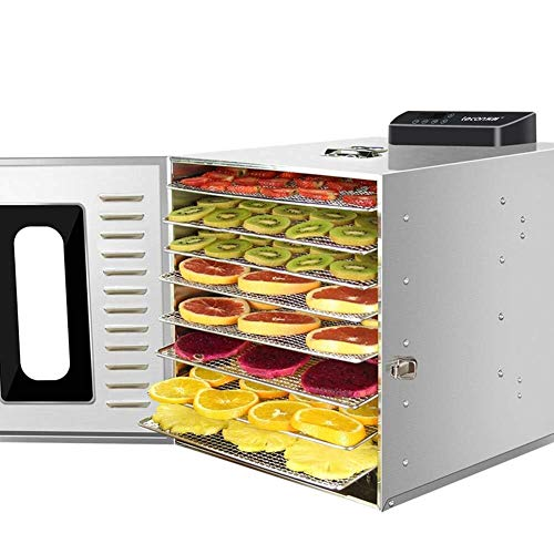 Review Food dryer 360W 8 Tier Fruit Dehydrator Machine Commercial Grade Stainless Steel Electric Foo...