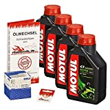 Motul 10W-40 Öl + Mahle Ölfilter für Honda XL 1000 V Varadero, 99-02, SD01 SD02 - Ölwechselset inkl. Motoröl, Filter, Dichtring