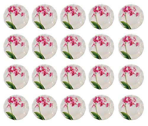 Beistle , 20 Piece Orchid Large Plates, 10.5''