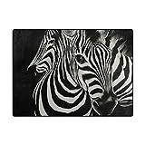 ZZKKO Teppich für Wohn-/Schlafzimmer, Zebra-Motiv, multi, 4'x5'(120x160 cm) - 2