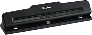 Swingline 2-3 Hole Punch, Semi-Adjustable, Light Duty Hole Puncher, 10 Sheet Punch Capacity, Black (74015)