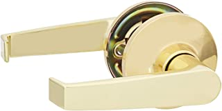 AmazonBasics Passage Door Lever, Hook, Polished Brass