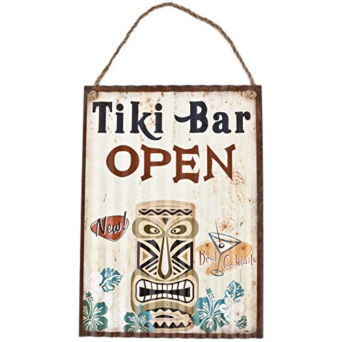 Dadeldo Living & Lifestyle Blechschild Tiki Bar Beach Design Metall 40x30cm bunt Retro Nostalgie Sprüche Reklame (Design 2)