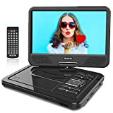 WONNIE 12' Reproductor de DVD Portátil con Pantalla Giratoria para Coche Soporte SD/USB/CD/DVD/MP3/JPEG 4 Horas...