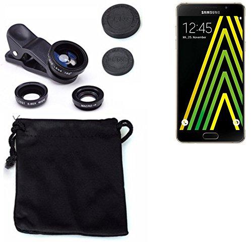 3in1 Samsung Galaxy A5 (2016) Lenti FishEye (180°) Grandangolo (0.67x) Macro Obiettivi Smartphone Cellulare Obiettivi Smartphone- K-S-Trade