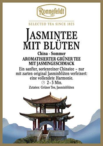 Ronnefeldt - Jasmintee mit Blüten - Aromatisierter Grüner Tee - 100g