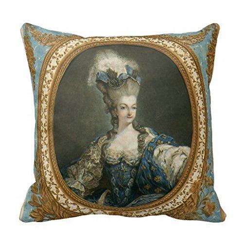 Janinet R1bb585a8e700421b943cd4fd1556a994 I5fqz 8byvr, ritratto di Maria Antonietta, federa in arte fine, 45,7x 45,7cm