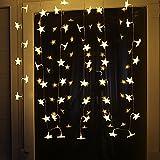 Uping Led Lichterkette Sterne 30er Batterienbetriebene für Party, Garten, Weihnachten, Halloween, Hochzeit, Beleuchtung Deko usw. 4,5M warm weiß - 4