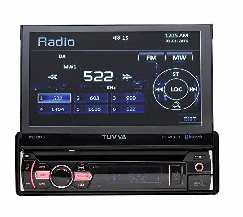 TUVVA KSD7875 In-Dash Car Multimedia Receiver, Bluetooth/ USB/ SD/ CD/ DVD/ AUX/ Rear Camera/ Remote Control/ **No RDS