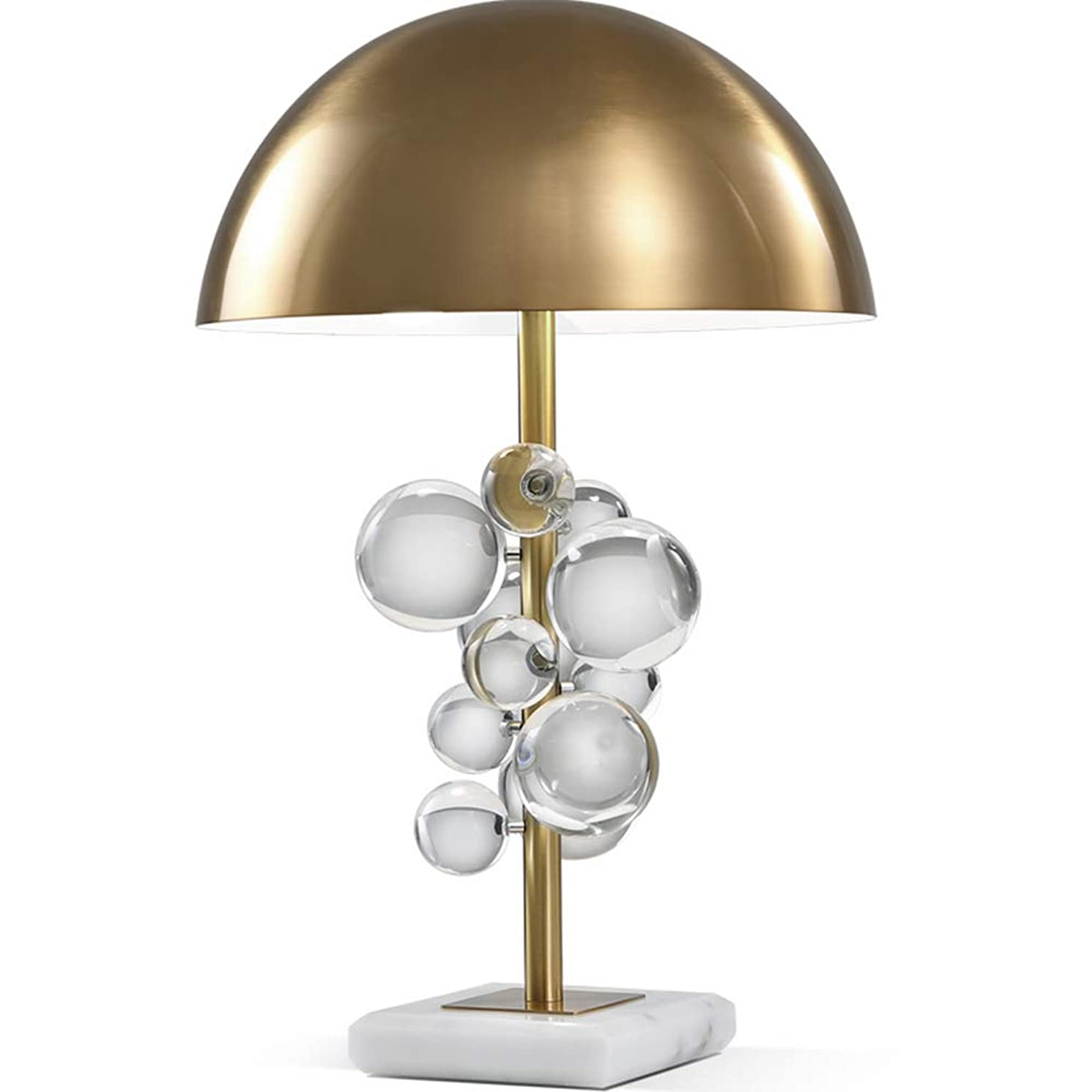 比類なきタイマー甥WMZGDHL テーブルランプの寝室のリビングルームのガラス玉のテーブルランプの家の装飾のベッドサイドテーブルランプ