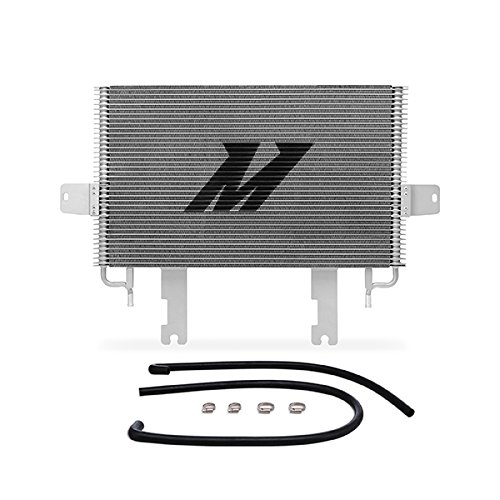 Mishimoto MMTC-F2D-99SL Transmission Cooler Compatible With Ford 7.3 Powerstroke 1999-2003 Silver