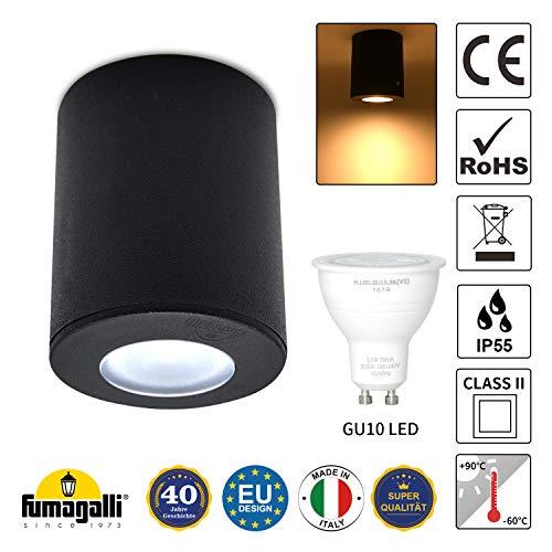 Lámpara de techo LED para una iluminación exterior efectiva, lámpara de techo LED, foco exterior, lámpara de jardín, incluye foco de 3,5 W, GU10, IP55, eficiencia energética A + +
